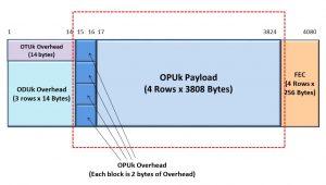 OTUk Frame with OPUk Portion shown