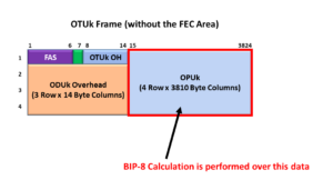 Section Monitoring BIP-8 Calculation Region
