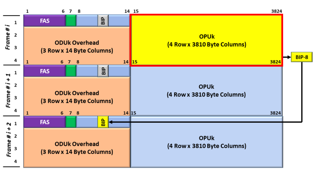 Section Monitoring BIP-8 Calculation and Insertion Region
