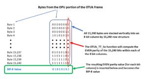 Section Monitoring - OTUk BIP-8 Calculation Procedure